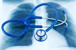 Stethoscope and X-ray.