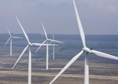 "Grüne Energie aus Wind – ""Black Law Windfarm"" / Green energy from wind – ""Black Law wind farm"""