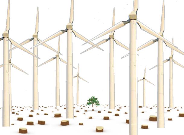turbine forest