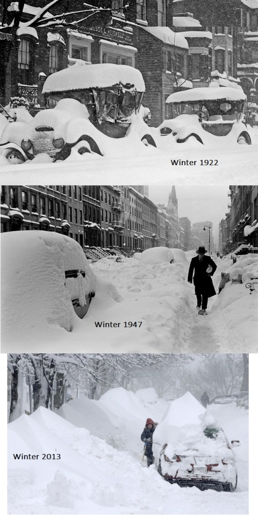 Blizzards from the past 90 years