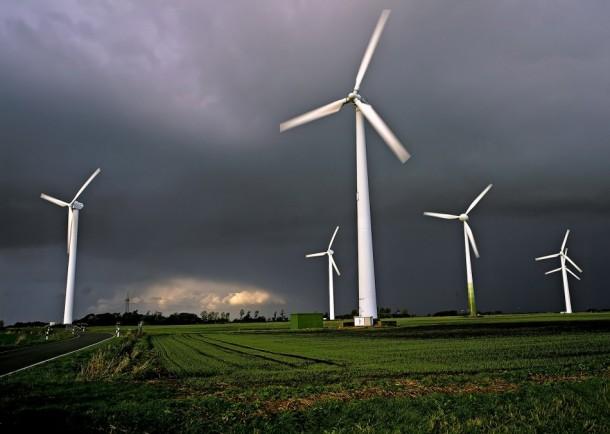 wind turbines coast of Germany 2003
